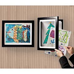 I like how this frame can hold 50 pieces of my girls' artwork behind the current one being displayed. $24.99 for the 8 1/2 x 11
