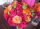Orange and Fuschia Wedding | Pink and Orange Wedding | Hot Pink and Orange Wedding | Orange and Magenta Wedding | Summer Wedding | Table Decor | Centerpieces | Nails | Nail Art | Makeup | Wedding Trends | Candy | Eyes | Invitations | Flowers | Wedding
