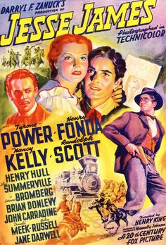 """""""Jesse James"""" directed by Henry King / 2nd grossing film in 1939"""