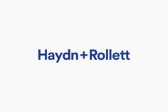 Logotype for Auckland construction company Haydn & Rollett by graphic design studio by Richards Partners, New Zealand