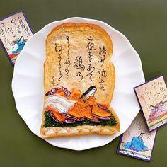 16 Creative Toast Designs By Japanese Artist Tostadas, Japanese Rock Garden, Edible Gold Leaf, Bread Art, Purple Cabbage, Japanese Kitchen, Blueberry Jam, Breakfast Toast, Kintsugi