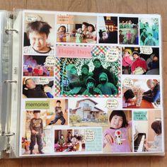【NEW】1日でアルバム10ページを作りました!! | ママのアルバム研究所 Bt S, Happy Day, Book Design, Polaroid Film, Diy Crafts, Memories, Baseball Cards, Photography, Image