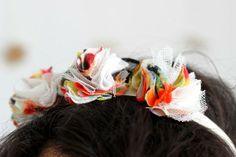 Headband fleuri home made