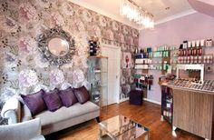 Our Interior Designer chose varying shades of purple to flow throughout the salon and connect each of the rooms. Description from fdldesignpartnership.co.uk. I searched for this on bing.com/images