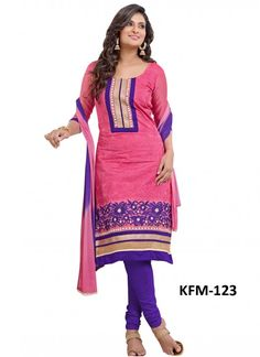 Buy Pink Chanderi Cotton Long Salwar Kameez