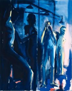 Rainer Fetting (German, b. 1949), Dusche II (Blau) [Shower II (Blue)], 1980. Tempera on canvas, 250.2 x 200 cm.