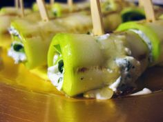Grilled Zucchini Roll-ups with Herbs and Cheese (Medifast Recipe and Gluten Free)