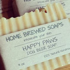 Wash your dog naturally with our happy paws dog soap!