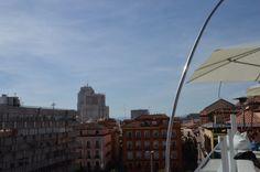 Vistas de Madrid desde la terraza de la Plaza de la Luna.