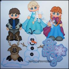 Premade Paper Pieced Let It Go Set for Scrapbook Pages -by Babs