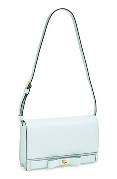 Love! This pastel blue Kate Spade shoulder bag is perfect for spring.