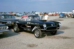 Hayseed… '57 drag Corvette, circa 1965