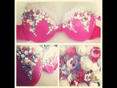 How to make a RAVE BRA: Princess Edition - YouTube