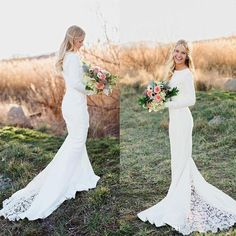 2016 Bohemian Hippie Ivory Jersey Rustic Wedding Dresses Vintage Long Sleeves Lace Bridal Gowns Chapel Train Mermaid Wedding Gowns 2016 Bohemian Wedding Dresses Vintage Long Sleeves Lace Bridal Gowns Mermaid Chapel Train Wedding Gowns Online with 172.58/Piece on Beautydoor's Store | DHgate.com