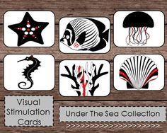 Black White Red High Contrast Baby Flash Cards - Etsy - Montessori & Waldorf Inspired - Nursery Decor, Mobile, Tummy Time, and more!