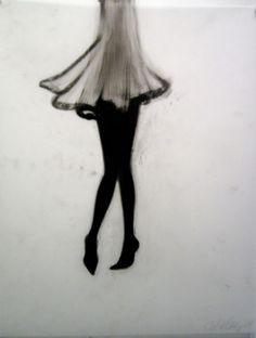 Cathy Daley - Untitled, 2009. Pastel on Vellum.
