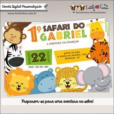 Convite Festa Safari Selva Digital
