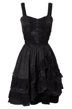 Gothic Lace Black Dress by Jawbreaker
