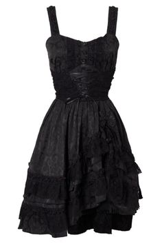 Gothic Lace Black Dress by Jawbreaker