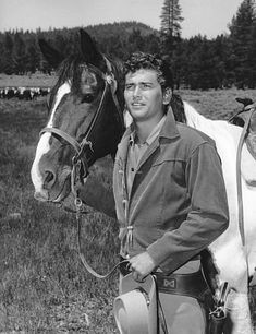 Michael Landon. Although, he was very handsome; I prefer to remember him as a father-figure. I chose this shot for a different reason. :) (hint: neigh neigh)
