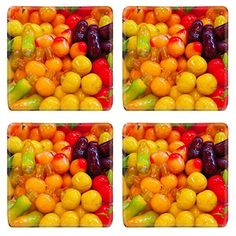 Luxlady Natural Rubber Square Coasters IMAGE ID 31274412 Thai dessert Look Choop -- Want additional info? Click on the image. #ThaiFood