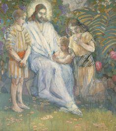 Christ and the Children,  Minerva Teichert