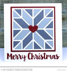 Quilt Square Cover-Up Die-namics, Merry Christmas Die-namics, Blueprints 27 Die-namics - Julie Dinn #mftstamps