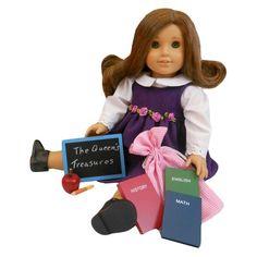 18 Inch Doll Accessory 6 Piece Set, 3 School Books, Apple, Pencil, Chalk Board : Target