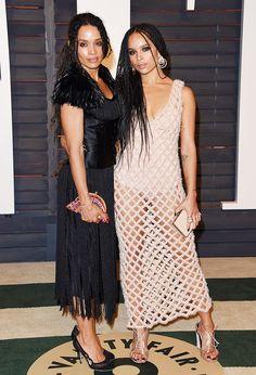Lisa Bonet and Zoe Kravitz in equally chic looks