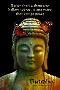 """""""Better than a thousand hollow words, is one word that brings peace."""" —Buddha: www.QuantumGrace.net ..*"""