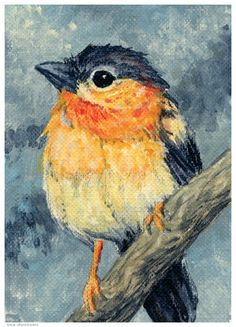 easy bird paintings on canvas for beginners - Google Search                                                                                                                                                      More