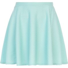 River Island Green textured skater skirt (€20) ❤ liked on Polyvore featuring skirts, bottoms, saias, faldas, circle skirt, river island, green skater skirt, blue green skirt and green skirt