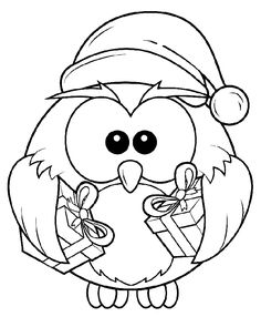 Riscos de corujas   christmas clipart   Christmas owls, Owl, Christmas