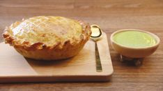 Coq Au Vin Pie with Smoked Cheddar Crust, Pea and Mint Sauce - Network Ten Peas And Mint Sauce, Masterchef Recipes, Frozen Peas, Tray Bakes, Cheddar, Network Ten, A Food, Food Processor Recipes, Chicken