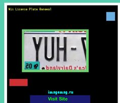 Wis license plate renewal 163831 - The Best Image Search