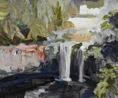 © Guy Maestri ~ Dangar Falls ~ 2013 oil on linen at Tim Olsen Gallery Sydney Australia Abstract Landscape, Landscape Paintings, Abstract Art, Landscapes, Contemporary Landscape, Australian Painters, Australian Artists, Art For Art Sake, Painting Inspiration