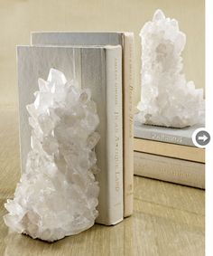 Quartz book ends?  Beautiful way to honor the Art of collecting great reading material.