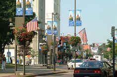 Main Street in Downtown Binghamton, NY Main Street, Street View, A Lovely Journey, Binghamton University, Small Town Girl, Johnson City, Bingo, Small Towns, Old Houses
