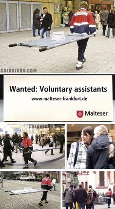 Campaña en busca de voluntarios  Worldwide Relief voluntary recruitment in Frankfurt }-> repinned by www.BlickeDeeler.de