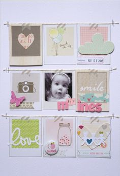 #papercraft #scrapbook #layout made with American Crafts products