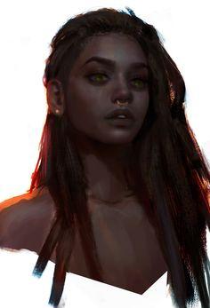 Haze, Yulia Archer on ArtStation at https://www.artstation.com/artwork/D3zPG
