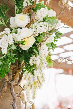 Photography : Rebecca Fishman, Birds Of A Feather | Floral Design : HollyFlora | Wedding Dress : Les Habitudes Read More on SMP: http://www.stylemepretty.com/2014/03/14/bohemian-coastal-wedding-at-terranea-resort/