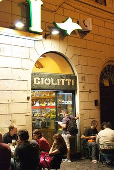 Giolitti - Rome, Italy - oldest gelato shop in Rome since 1900