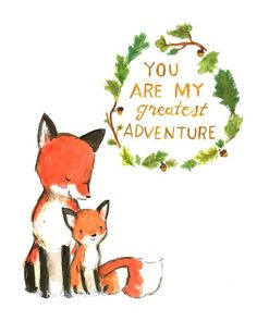 Nursery Art -- My Greatest Adventure FOX -- Art Print