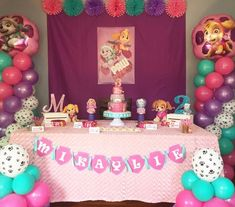 Girl Paw Patrol Party Birthday 2nd Second