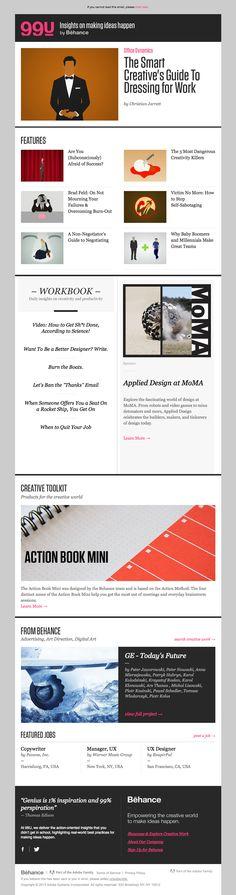 Behance email newsletter design