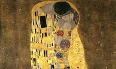 This fresco of The Kiss by Gustav Klimt would make a beautiful backdrop for any master bedroom!