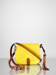 Suede Mini-Saddle Bag - Ralph Lauren Collection Handbags  - RalphLauren.com