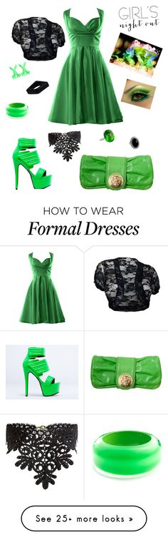 """party time"" by kendranorris on Polyvore featuring Jennifer Chou, Tom Ford, Emi Jewellery, Alexis Bittar, New Look, Marni and girlsnightout"