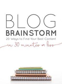 Blog Brainstorming: